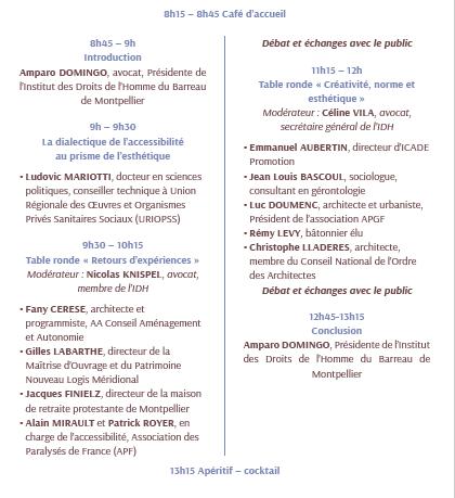 Programme Colloque Handicap