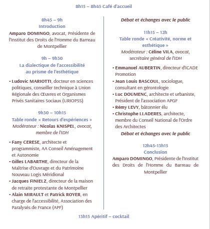 Programme Colloque Handicap