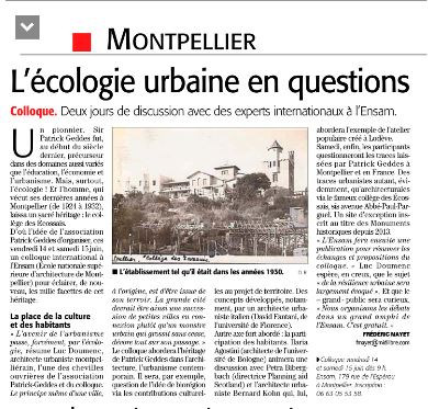 Article Midi Libre Colloque